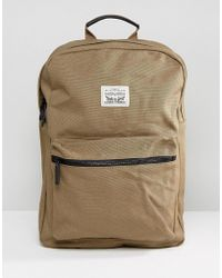 Levi's - Levi's Canvas Backpack In Khaki - Lyst