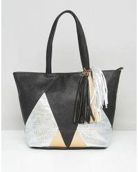 Yoki Fashion - Yoki Metallic Tote Bag - Lyst