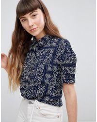 Daisy Street - Relaxed Shirt In Bandana Print - Lyst