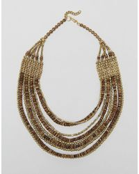 Raga - Multi Strand Beaded Necklace - Lyst