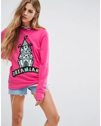 The Ragged Priest - Castle Patch Sweatshirt - Pink - Lyst