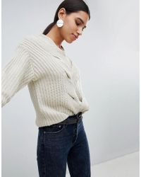 Girl In Mind - Cable Front Detail Jumper - Lyst