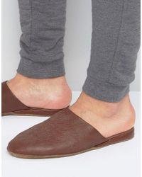 Lyle & Scott - Leather Slippers In Case - Lyst