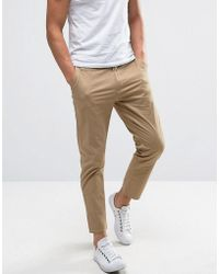 Casual Friday - Cropped Chinos In Slim Fit - Lyst