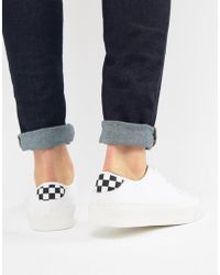 Pull&Bear - Trainer With Checker Board Detail - Lyst