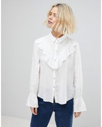 B.Young - Ruffle Blouse - Lyst