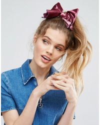 ASOS - Oversize Bow Hair Tie - Lyst