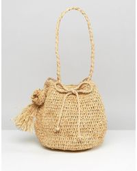 Hat Attack - Straw Bucket Bag - Lyst