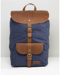 Forbes & Lewis - Leather Lincoln Backpack In Navy - Lyst