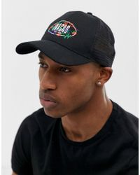 dbfa8c712d641 ASOS Snapback Cap In Black With Paisley Peak in Black for Men - Lyst