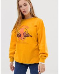 Daisy Street - Relaxed Sweatshirt With Vintage Alpine Print - Lyst