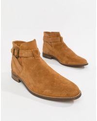 Bershka - Suede Chelsea Boots In Tan - Lyst