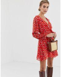 Glamorous - Wrap Dress In Vintage Floral - Lyst