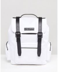 Dr. Martens - Medium Slouch Backpack In Extra Tough Nylon With Contrast Straps - Lyst