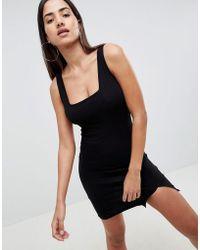ASOS - Square Neck Mini Bodycon Dress - Lyst