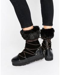 Sixtyseven - Lace Up Snow Boots - Lyst