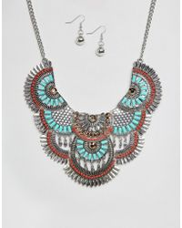 Ruby Rocks - Statement Festival Necklace And Earring Set - Lyst
