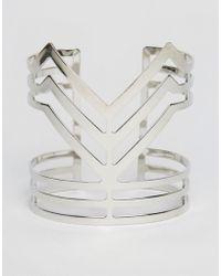 Ruby Rocks - Structured Cuff Bracelet - Lyst