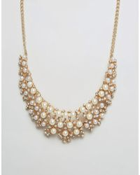 Ruby Rocks - Occasion Pearl Detail Necklace - Lyst