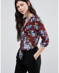 Madam Rage - Floral Pussy Bow Blouse - Lyst