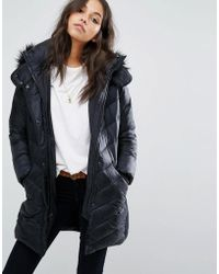 Abercrombie & Fitch - Core Mid Thigh Coat - Lyst
