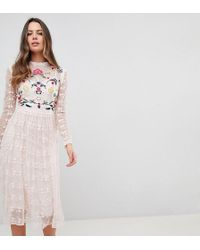 Frock and Frill - Premium Embroidered Lace Prom Skater Dress - Lyst