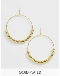 Gorjana - Gold Plated Newport Large Drop Hoops - Lyst