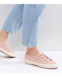 Superga - 2750 Canvas Trainers In Pink - Lyst