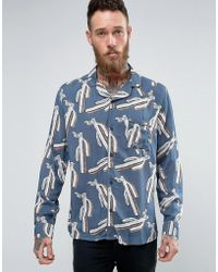 Brooklyn Supply Co. - Revere Collar Cactus Shirt - Lyst
