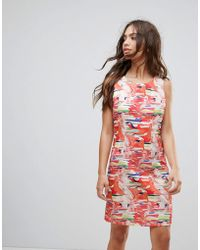 Sale Best Place Ebay Cheap Price Floral Belted Dress - Multi Lavand Free Shipping Newest C5acHo