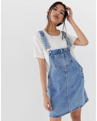 fda9ad41b3d Lyst - Dr. Denim Rory Pinafore Eco Coated Dress in Blue