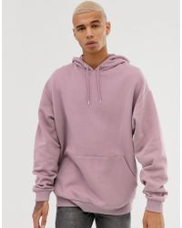 ASOS - Oversized Hoodie In Dusty Lilac - Lyst