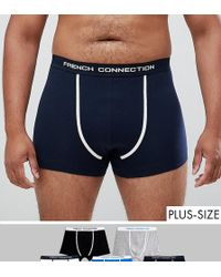 French Connection - Plus 5 Pack Boxers - Lyst