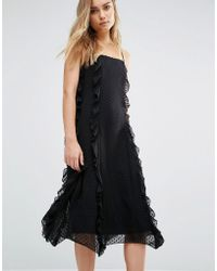 Warehouse - Strappy Frill Dress - Lyst