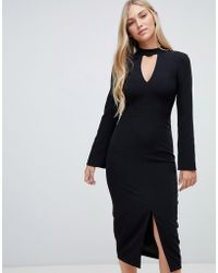 02d6c58c4745 Forever New - Clean Tailored Midi Dress In Black - Lyst