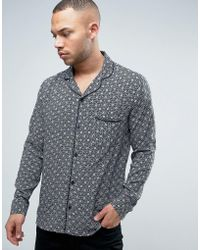 Brooklyn Supply Co. - Revere Collar Tile Print Shirt - Lyst