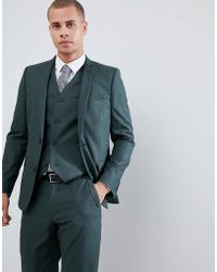 ASOS - Slim Suit Jacket In Forest Green - Lyst