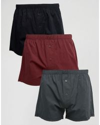 ASOS - Woven Boxers 3 Pack Save - Lyst