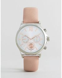 New Look - Nude Faux Leather Watch - Lyst