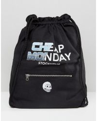 Cheap Monday - Future Drawstring Backpack - Lyst