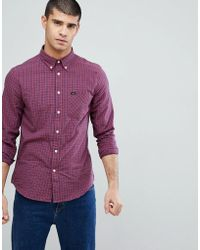 Lee Jeans - Jeans Checked Button Down Shirt - Lyst