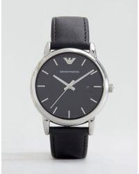 Emporio Armani - Ar1692 Leather Strap Watch - Lyst