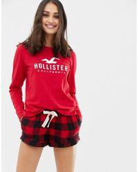 Hollister - Pyjama Shorts In Check - Lyst