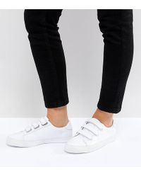 ASOS - Didi Wide Fit Strap Sneakers - Lyst