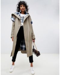 ASOS - Trench Coat With Check Lining - Lyst