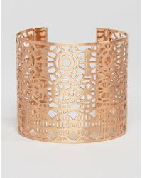 Pilgrim - Cut Out Detail Chunky Cuff Bracelet - Lyst