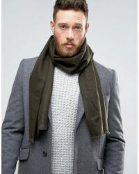 New Look - Scarf In Dark Khaki - Lyst