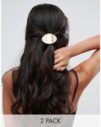 Glamorous - Metallic Bar Hair Tie - Lyst