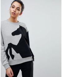 Sportmax Code - Sweatshirt With Horse Motif - Lyst