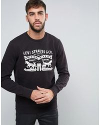 Levi's - Levi's Graphic Print Crew Neck Sweatshirt - Lyst